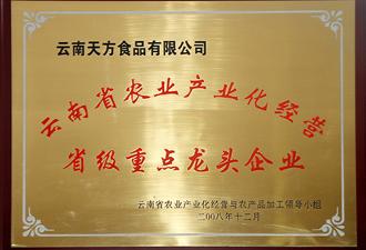 云南省农业产业化经营省级重点龙头企业